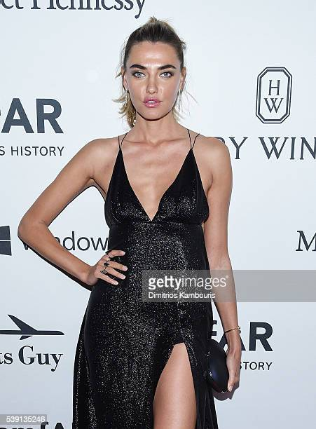 Model Andreea Diaconu attends the 7th Annual amfAR Inspiration Gala at Skylight at Moynihan Station on June 9 2016 in New York City