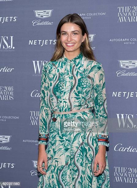 Model Andreea Diaconu attends the WSJ Magazine Innovator Awards at Museum of Modern Art on November 2 2016 in New York City