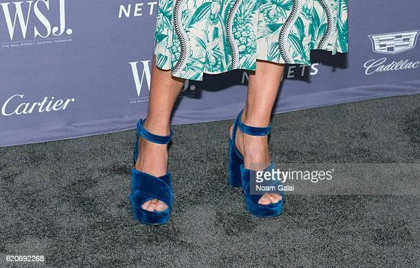 Model Andreea Diaconu shoe detail attends the WSJ Magazine Innovator Awards at Museum of Modern Art on November 2 2016 in New York City