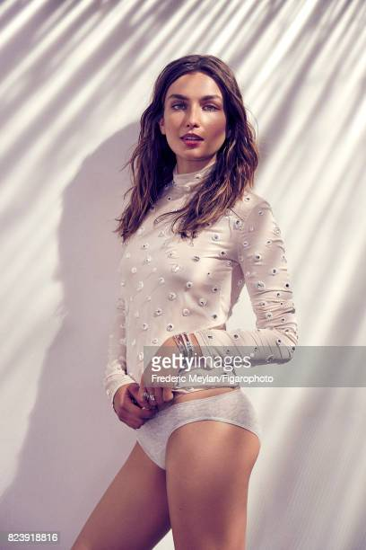 Model Andreea Diaconu the new face of Messika poses for Madame Figaro on May 18 2017 in Paris France Top underwear CREDIT MUST READ Frederic...
