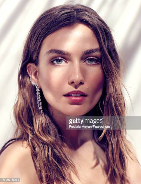 Model Andreea Diaconu the new face of Messika poses for Madame Figaro on May 18 2017 in Paris France Calypso earring from the Haute Joaillerie...