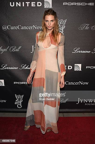 Model Andreja Pejic attends Angel Ball 2015 hosted by Gabrielle's Angel Foundation at Cipriani Wall Street on October 19 2015 in New York City