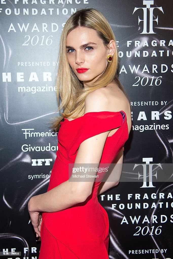 Model Andreja Pejic attends the 2016 Fragrance Foundation Awards at Alice Tully Hall at Lincoln Center on June 7 2016 in New York City