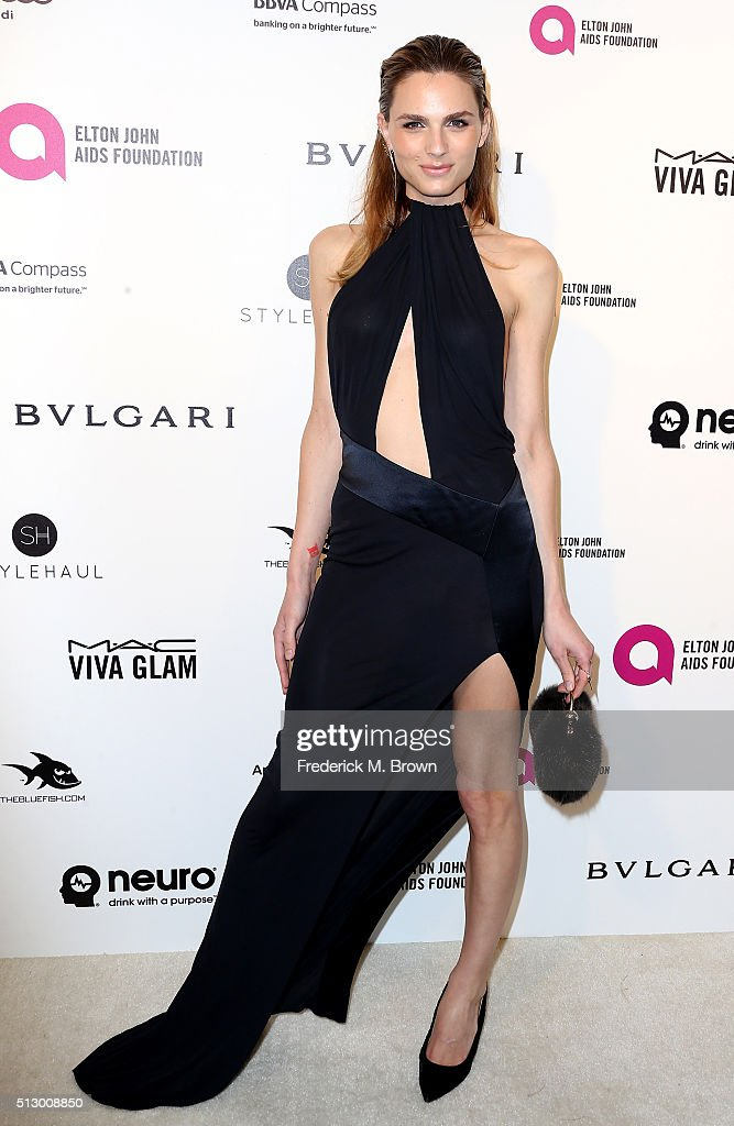 Model Andreja Pejic attends the 24th Annual Elton John AIDS Foundation's Oscar Viewing Party on February 28, 2016 in West Hollywood, California.