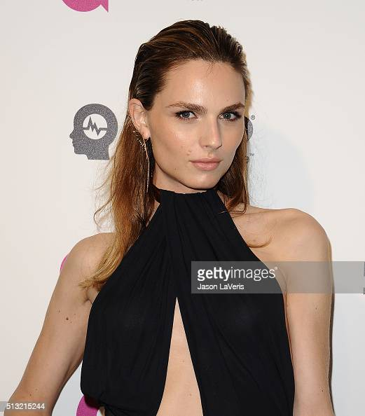 Model Andreja Pejic attends the 24th annual Elton John AIDS Foundation's Oscar viewing party on February 28 2016 in West Hollywood California