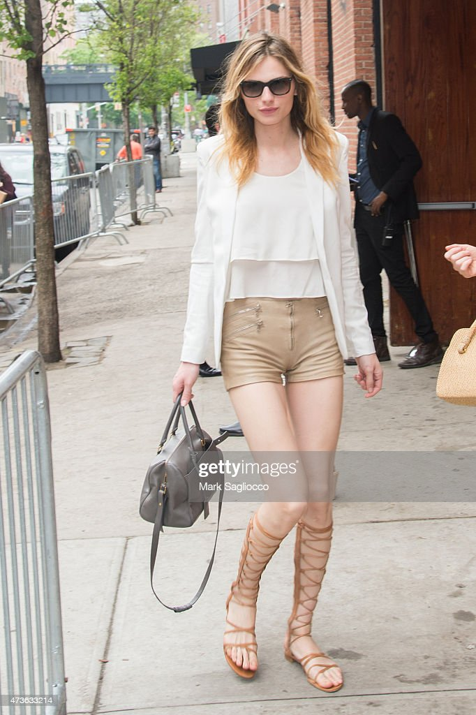 Model Andreja Pejic attends the 4th Annual Olevolos Project Brunch at Gallow Green at the McKittrick Hotel on May 16 2015 in New York City
