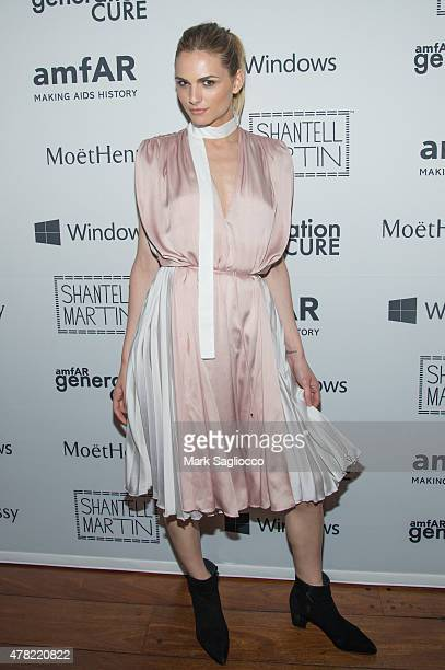 Model Andreja Pejic attends the 4th Annual Solstice Presented By amfAR's generationCURE at the Hudson Hotel on June 23 2015 in New York City