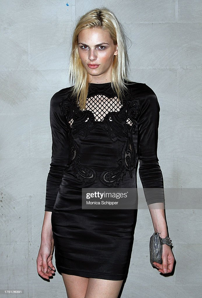 Model Andrej Pejic attends The Cinema Society and Gents screening of Magnolia Pictures' 'Prince Avalanche' at Landmark Sunshine Cinema on July 31, 2013 in New York City.