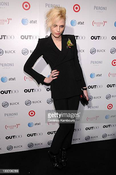 Model Andrej Pejic attends the OUT celebration of The OUT100 at Skylight Soho on November 17 2011 in New York City