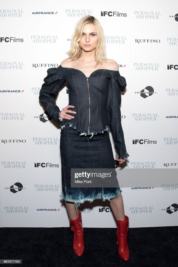 Model Andreja Pejic attends the 'Personal Shopper' New York Premiere at Metrograph on March 9, 2017 in New York City.