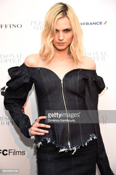 Model Andreja Pejic attends the 'Personal Shopper' premiere at Metrograph on March 9 2017 in New York City