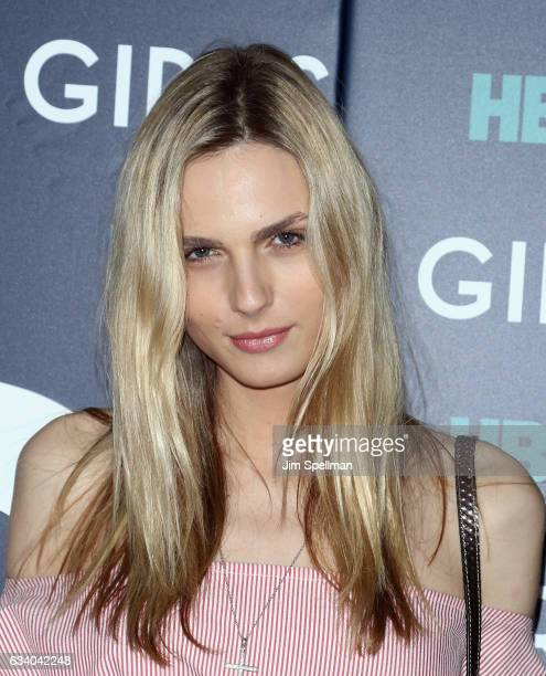Model Andreja Pejic attends the the New York premiere of the sixth and final season of 'Girls' at Alice Tully Hall Lincoln Center on February 2 2017...