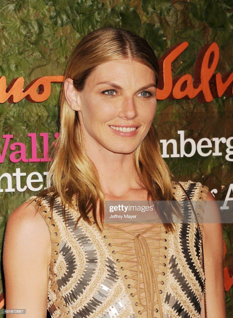 Model Angela Lindvall arrives at the Wallis Annenberg Center For The Performing Arts Inaugural Gala at Wallis Annenberg Center for the Performing Arts on October 17, 2013 in Beverly Hills, California.