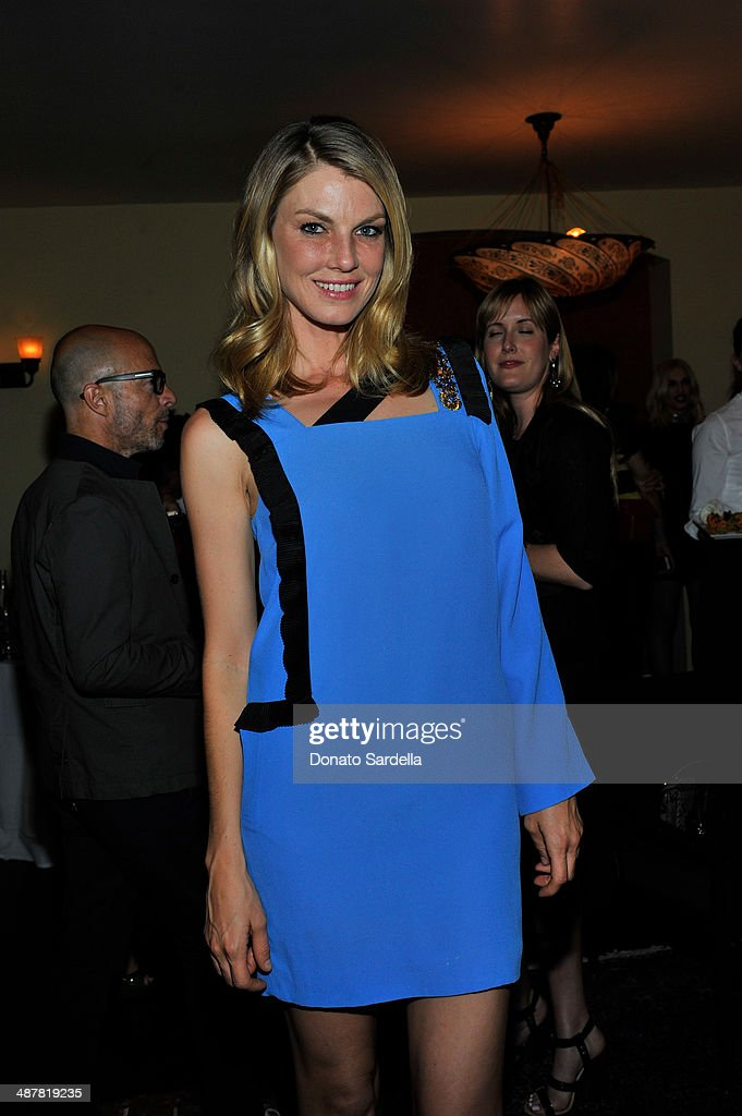 Model Angela Lindvall attends A private dinner In honor of Fausto Puglisi of Emanuel Ungaro hosted by Barneys New York at Chateau Marmont on May 1, 2014 in Los Angeles, California.