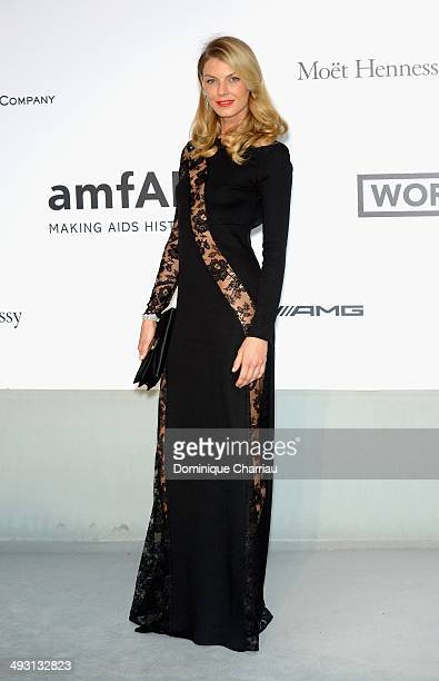 Model Angela Lindvall attends amfAR's 21st Cinema Against AIDS Gala Presented By WORLDVIEW BOLD FILMS And BVLGARI at Hotel du CapEdenRoc on May 22...