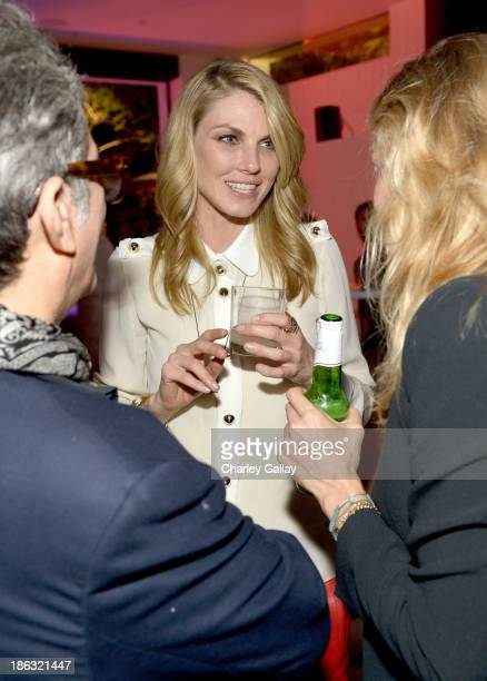 Model Angela Lindvall attends Chloe Los Angeles Fashion Show Dinner hosted by Clare Waight Keller January Jones and Lisa Love on October 29 2013 in...