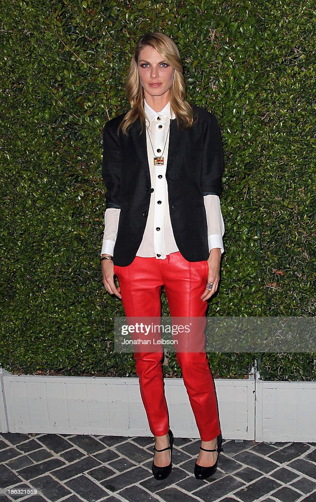 Model <a gi-track='captionPersonalityLinkClicked' href=/galleries/search?phrase=Angela+Lindvall&family=editorial&specificpeople=206644 ng-click='$event.stopPropagation()'>Angela Lindvall</a> attends Chloe Los Angeles Fashion Show & Dinner hosted by Clare Waight Keller, January Jones and Lisa Love on October 29, 2013 in Los Angeles, California.