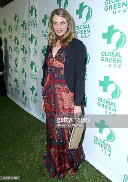 Model Angela Lindvall attends Global Green USA's 10th Annual PreOscar Party at Avalon on February 20 2013 in Hollywood California