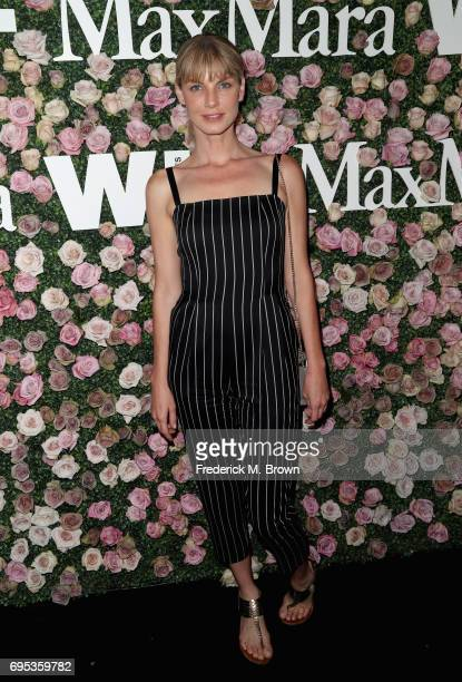Model Angela Lindvall attends Max Mara Celebration of Zoey Deutch as The 2017 Women In Film Max Mara Face of The Future Award Recipient at Chateau...
