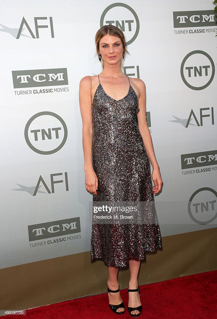 Model Angela Lindvall attends the 2014 AFI Life Achievement Award: A Tribute to Jane Fonda at the Dolby Theatre on June 5, 2014 in Hollywood, California. Tribute show airing Saturday, June 14, 2014 at 9pm ET/PT on TNT.