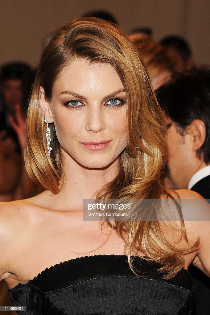 Model <a gi-track='captionPersonalityLinkClicked' href=/galleries/search?phrase=Angela+Lindvall&family=editorial&specificpeople=206644 ng-click='$event.stopPropagation()'>Angela Lindvall</a> attends the Costume Institute Gala Benefit to celebrate the opening of the 'American Woman: Fashioning a National Identity' exhibition at The Metropolitan Museum of Art on May 3, 2010 in New York City.