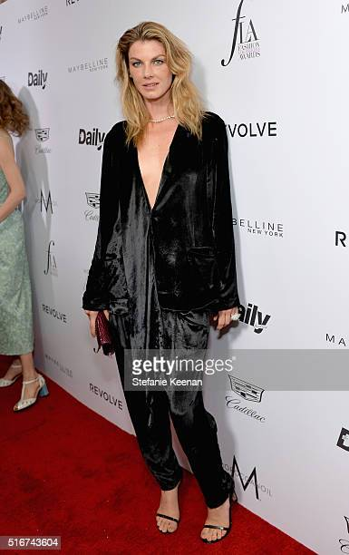 Model Angela Lindvall attends The Daily Front Row 'Fashion Los Angeles Awards' 2016 at Sunset Tower Hotel on March 20 2016 in West Hollywood...