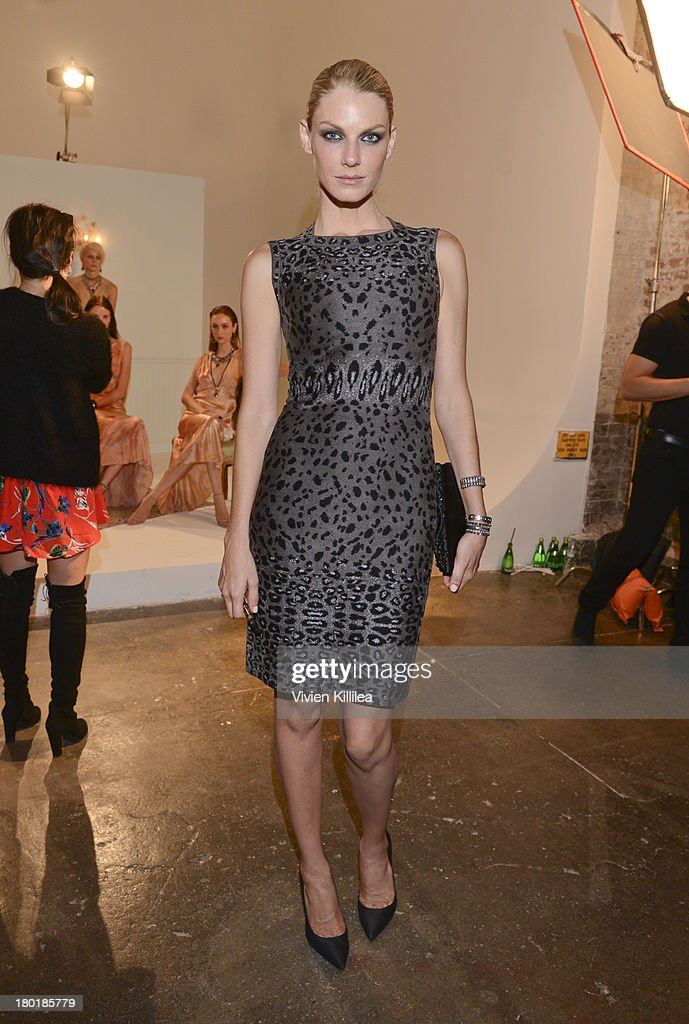 Model <a gi-track='captionPersonalityLinkClicked' href=/galleries/search?phrase=Angela+Lindvall&family=editorial&specificpeople=206644 ng-click='$event.stopPropagation()'>Angela Lindvall</a> attends the Dannijo presentation during Mercedes-Benz Fashion Week Spring 2014 at Industria Studios on September 9, 2013 in New York City.