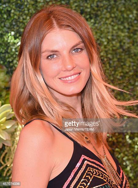 Model Angela Lindvall attends the FifthAnnual Veuve Clicquot Polo Classic at Will Rogers State Historic Park on October 11 2014 in Pacific Palisades...