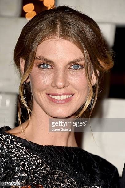 Model Angela Lindvall attends the Hammer Museum's 'Gala In The Garden' honoring Joni Mitchell and Mark Bradford at the Hammer Museum on October 11...