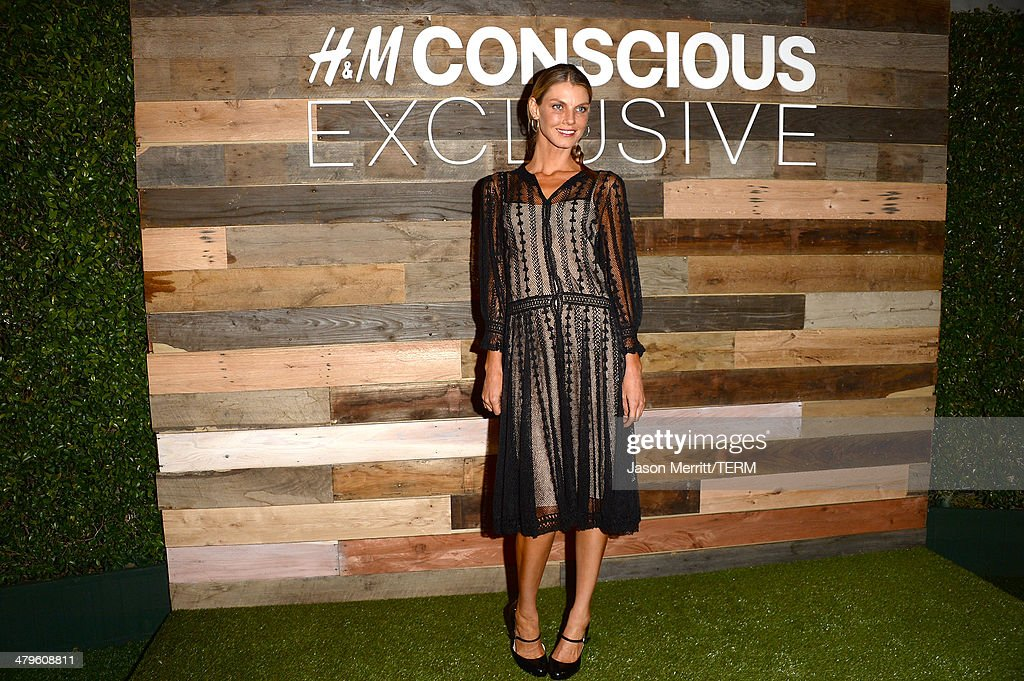 Model <a gi-track='captionPersonalityLinkClicked' href=/galleries/search?phrase=Angela+Lindvall&family=editorial&specificpeople=206644 ng-click='$event.stopPropagation()'>Angela Lindvall</a> attends the H&M Conscious Collection dinner at Eveleigh on March 19, 2014 in West Hollywood, California.