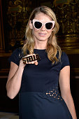 Model Angela Lindvall attends the Stella McCartney show as part of the Paris Fashion Week Womenswear Spring/Summer 2016 on October 5 2015 in Paris...