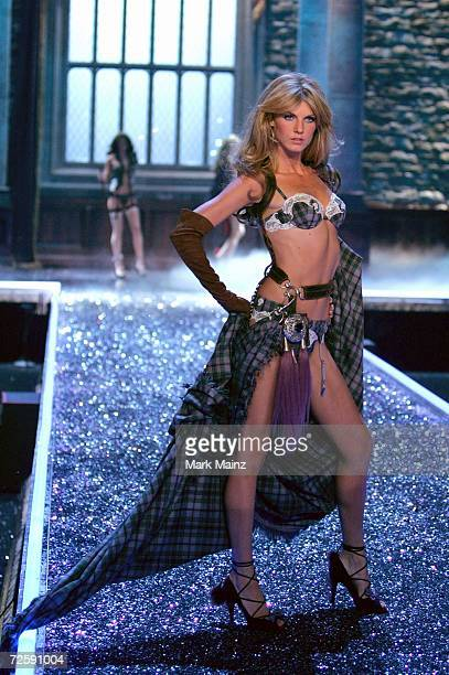 Model Angela Lindvall walks the runway during the Victoria's Secret Fashion Show held at the Kodak Theatre on November 16 2006 in Hollywood...