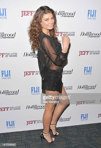 Model Angela Martini attends a screening of 'Jeff Who Lives at Home' at the Sunshine Landmark on March 12 2012 in New York City