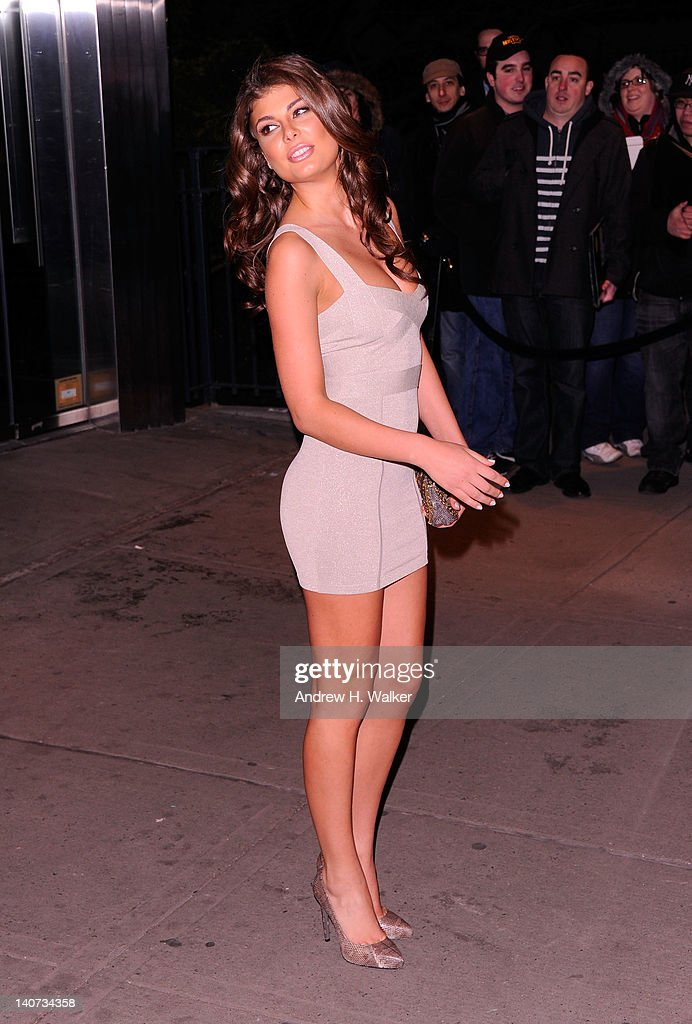 Model Angela Martini attends the Cinema Society & People StyleWatch with Grey Goose screening of 'Friends With Kids' at the SVA Theater on March 5, 2012 in New York City.