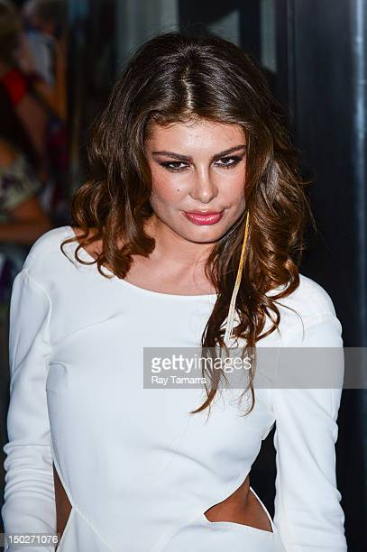 Model Angela Martini attends the 'Cosmopolis' New York premiere at the Museum Of Modern Art on August 13 2012 in New York City