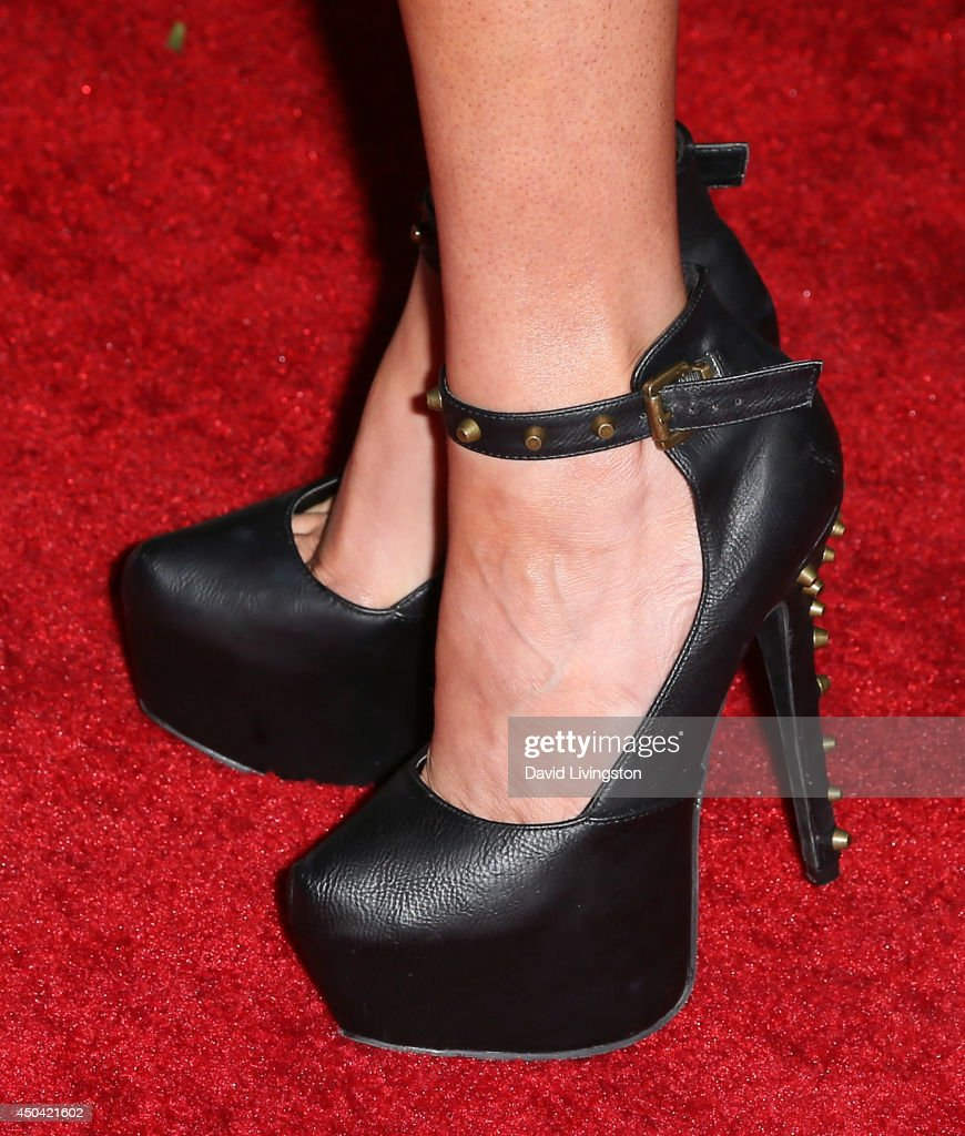 Model Angelica Bridges (shoe detail) attends the Maxim Hot 100 event at the Pacific Design Center on June 10, 2014 in West Hollywood, California.