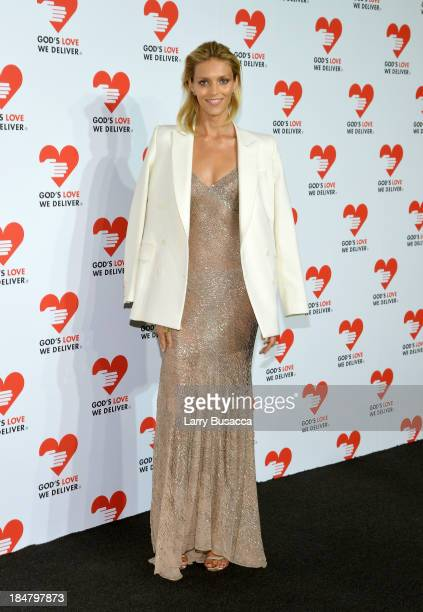 Model Anja Rubik attends God's Love We Deliver 2013 Golden Heart Awards Celebration at Spring Studios on October 16 2013 in New York City