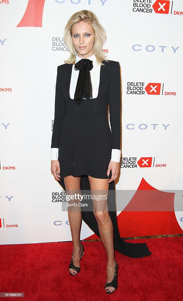 Model Anja Rubik attends the 2013 Delete Blood Cancer Gala at Cipriani Wall Street on May 1, 2013 in New York City.