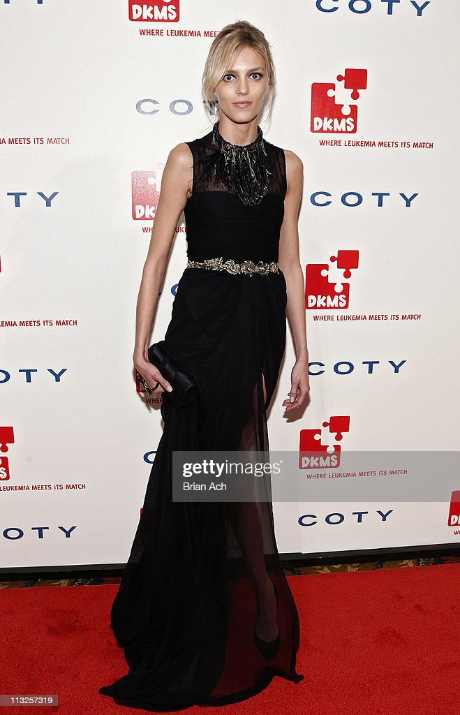 Model Anja Rubik attends the 5th annual DKMS Gala at Cipriani Wall Street on April 28, 2011 in New York City.