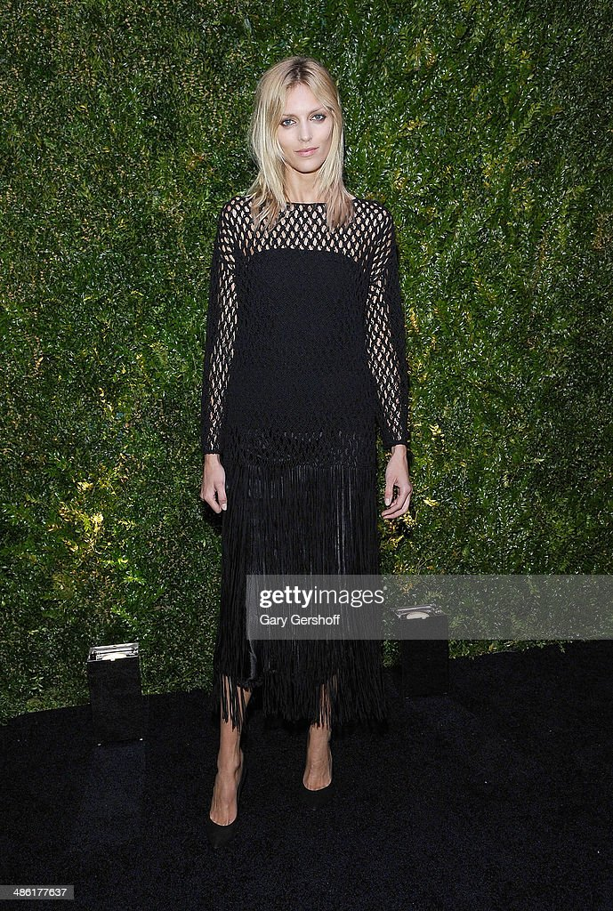 Model <a gi-track='captionPersonalityLinkClicked' href=/galleries/search?phrase=Anja+Rubik&family=editorial&specificpeople=4341980 ng-click='$event.stopPropagation()'>Anja Rubik</a> attends the Chanel Tribeca Film Festival Artist Dinner at Balthazer on April 22, 2014 in New York City.