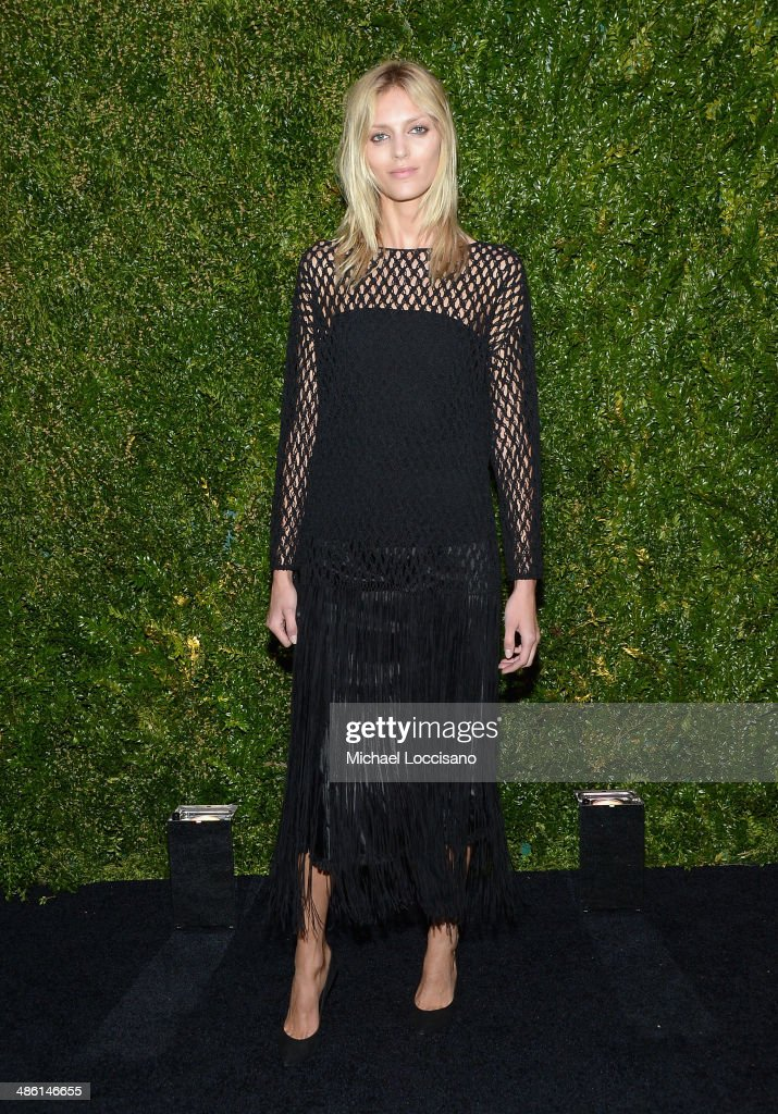 Model <a gi-track='captionPersonalityLinkClicked' href=/galleries/search?phrase=Anja+Rubik&family=editorial&specificpeople=4341980 ng-click='$event.stopPropagation()'>Anja Rubik</a> attends the CHANEL Tribeca Film Festival Artists Dinner at Balthazar on April 22, 2014 in New York City.