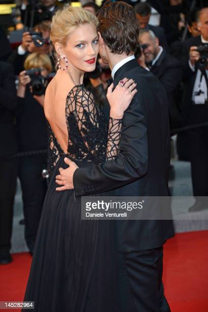Model Anja Rubik attends the 'Cosmopolis' Premiere during the 65th Annual Cannes Film Festival at Palais des Festivals on May 25 2012 in Cannes France