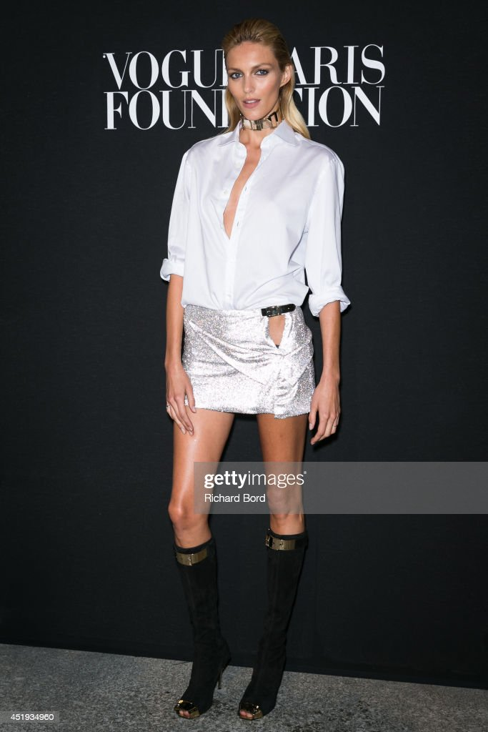 Model Anja Rubik attends the Vogue Foundation Gala as part of Paris Fashion Week at Palais Galliera on July 9 2014 in Paris France