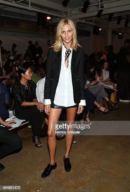 Model Anja Rubik attends the Zana Bayne fashion show during MADE Fashion Spring 2015 at Milk Studios on September 4 2014 in New York City