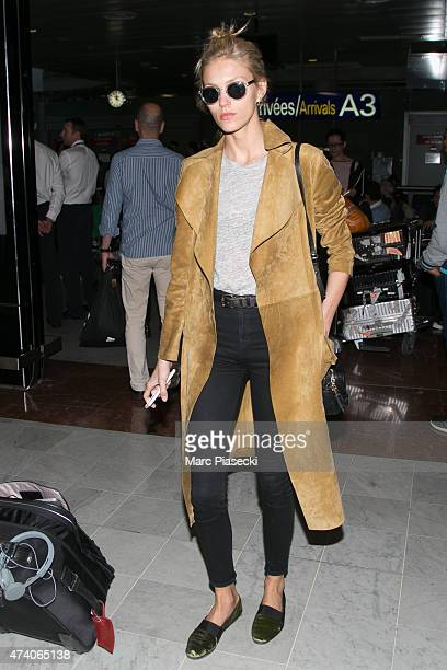 Model Anja Rubik is seen at Nice airport during the 68th annual Cannes Film Festival on May 20 2015 in Cannes France