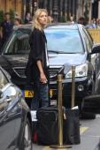 Model Anja Rubik is seen leaving the Park Hyatt hotel on September 25 2013 in Paris France