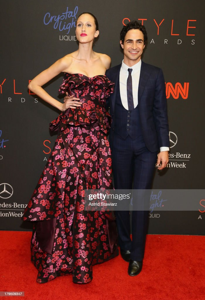 Model Anna Cleveland and Designer Zac Posen attend the 10th annual Style Awards during Mercedes Benz Fashion Week Spring 2014 at Lincoln Center on September 4, 2013 in New York City.