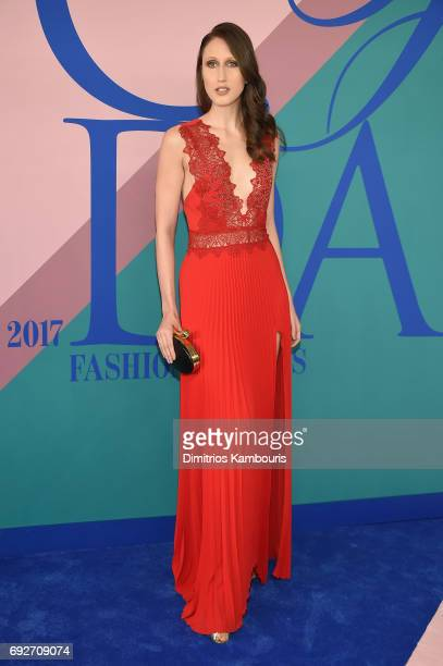 Model Anna Cleveland attends the 2017 CFDA Fashion Awards at Hammerstein Ballroom on June 5 2017 in New York City