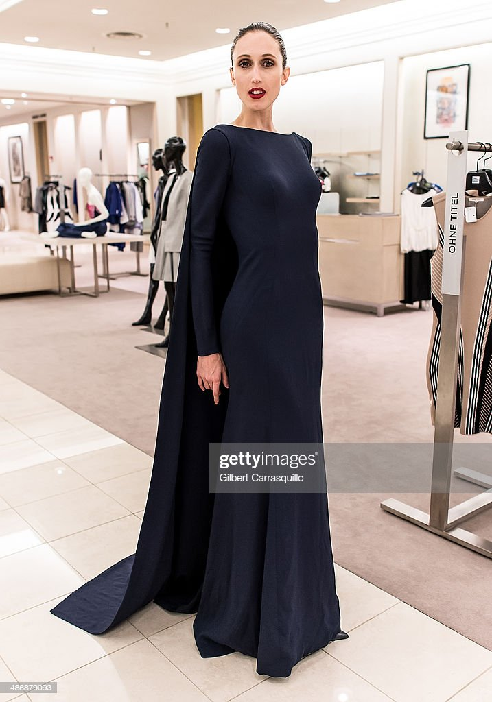 Model <a gi-track='captionPersonalityLinkClicked' href=/galleries/search?phrase=Anna+Cleveland&family=editorial&specificpeople=2569978 ng-click='$event.stopPropagation()'>Anna Cleveland</a> attends the Zac Posen Pre-Fall And Fall 2014 Collections Preview at Saks Fifth Avenue on May 8, 2014 in Bala-Cynwyd, Pennsylvania.