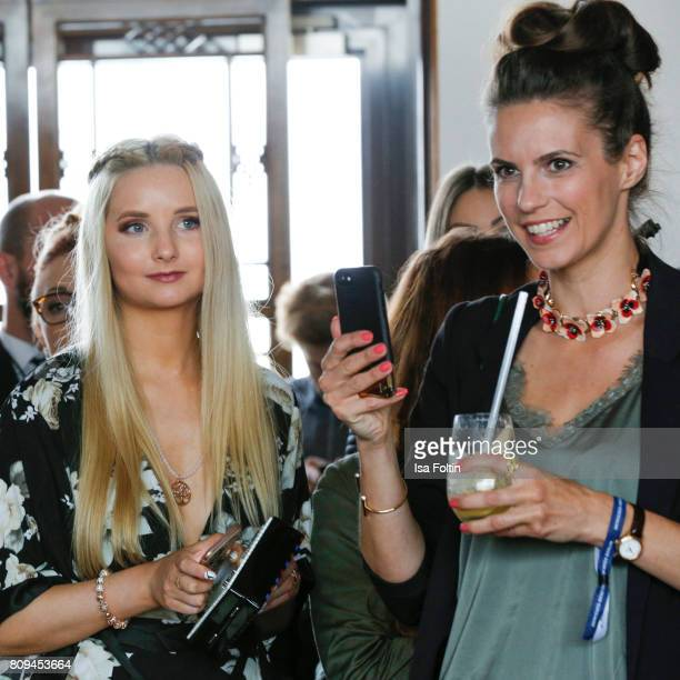 Model Anna Hiltrop and German presenter Katrin Wrobel attend the Thomas Sabo Press Cocktail during the MercedesBenz Fashion Week Berlin Spring/Summer...